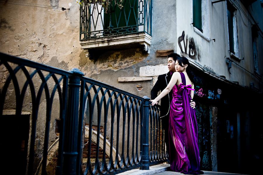 purple prewedding dress