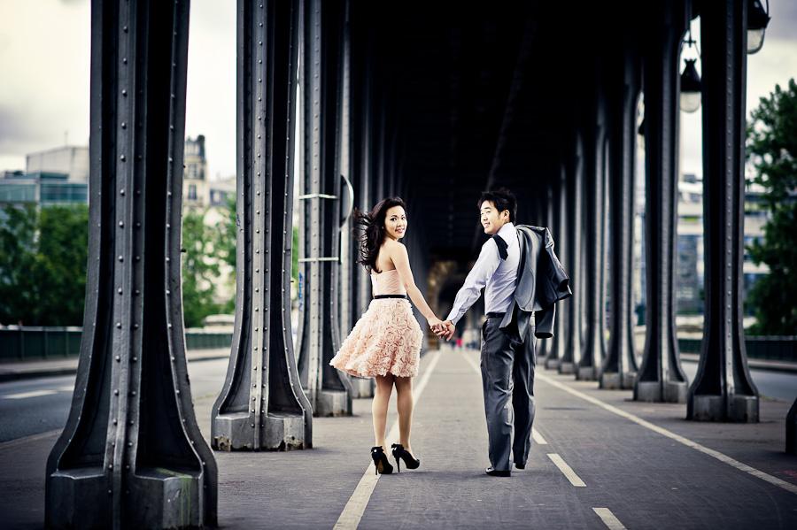 Asian prewedding Paris
