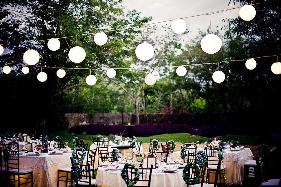 Outdoor wedding reception Mexico