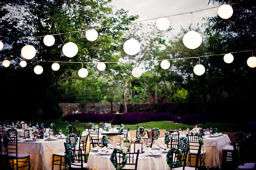 Outdoor wedding reception Mexico