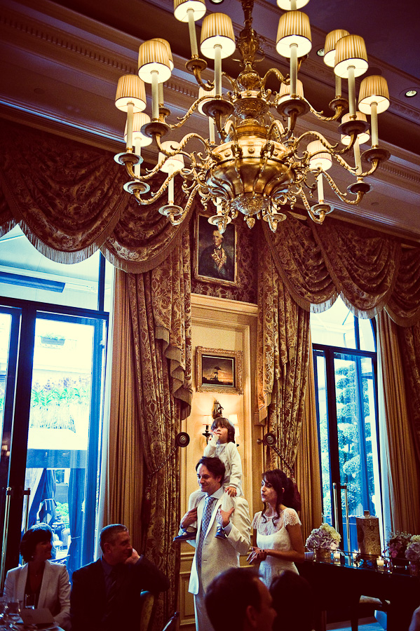 Luxury hotel wedding in Paris