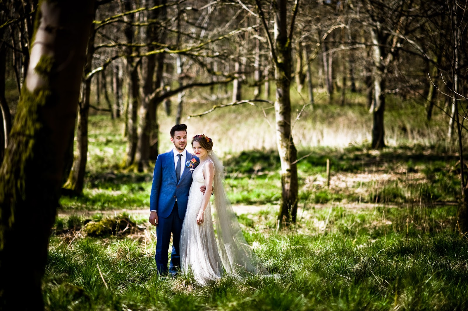wedding photoshoot forest