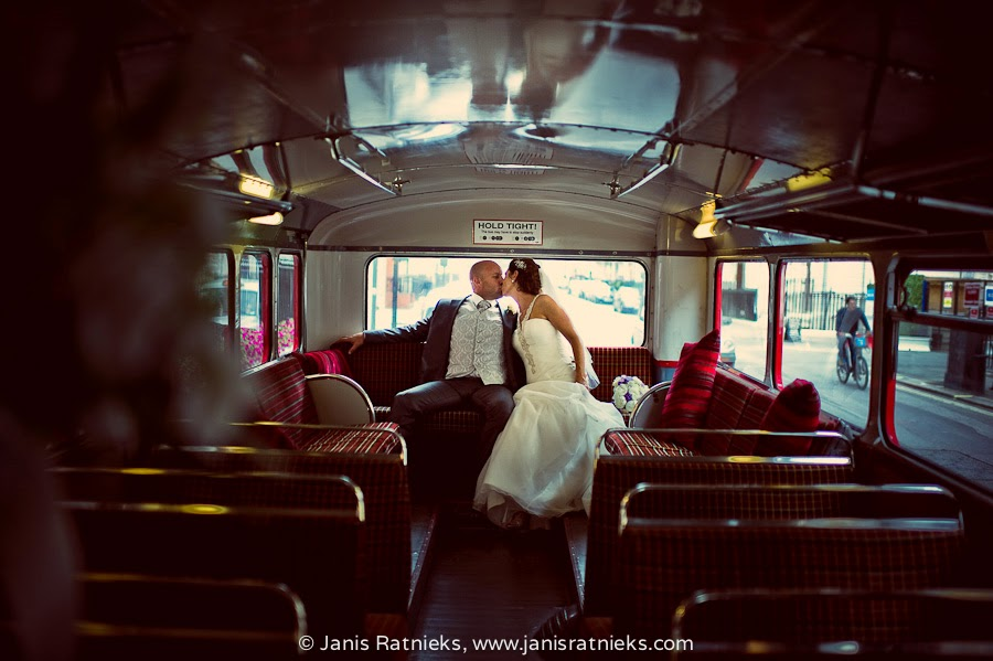 routemaster wedding photos
