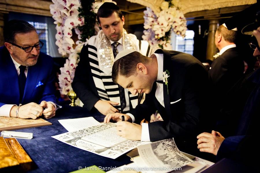 signing ketubah