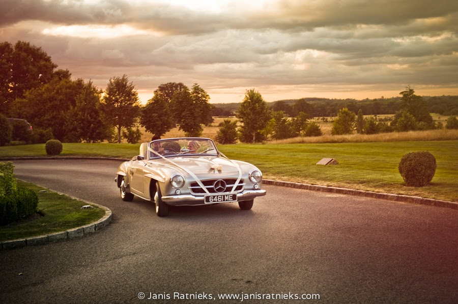 Mercedes SL wedding car