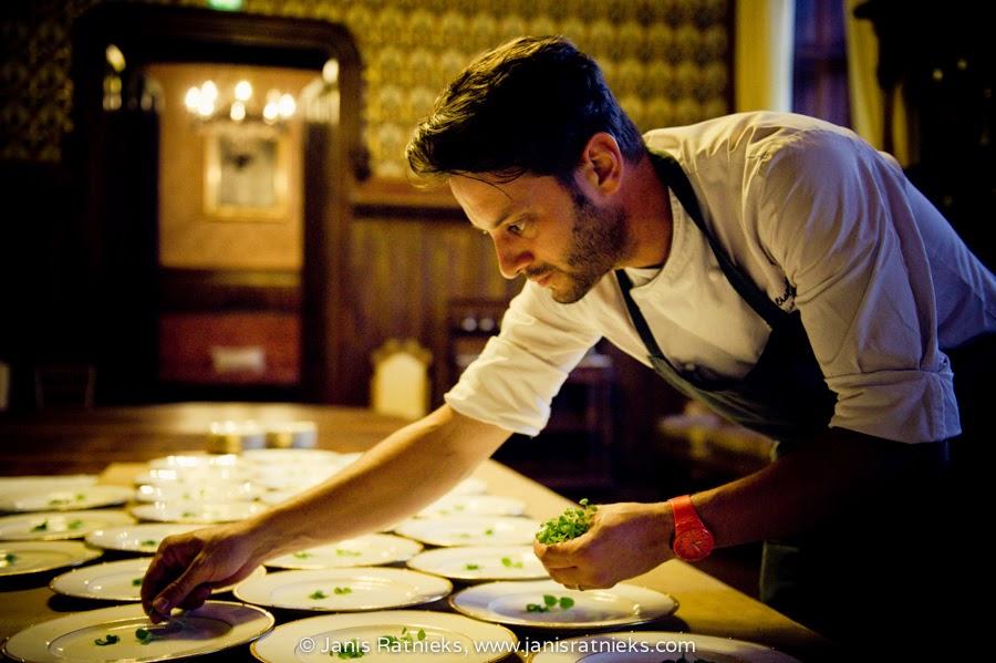 chef chateau wedding