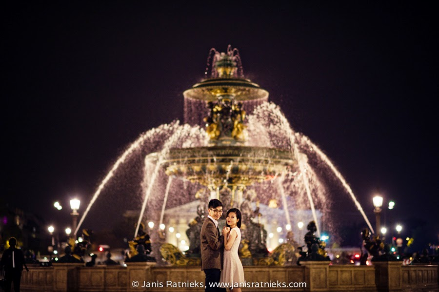 Paris night photo shoot
