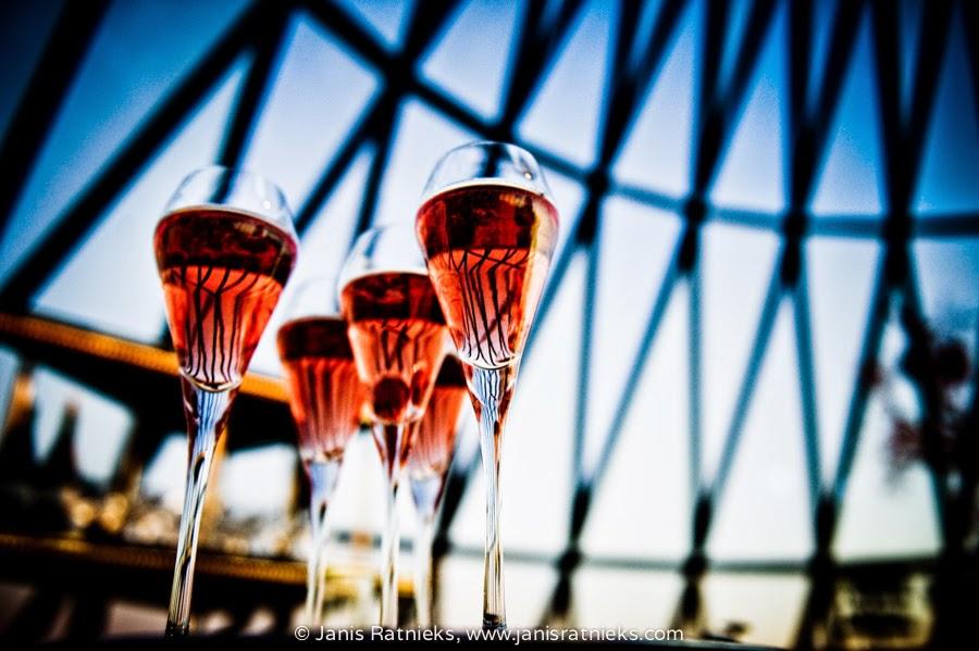 champagne glasses maybe prosecco