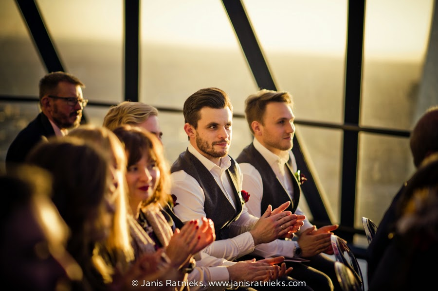 guests applauding during the ceremony