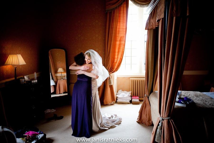 shot bride getting ready