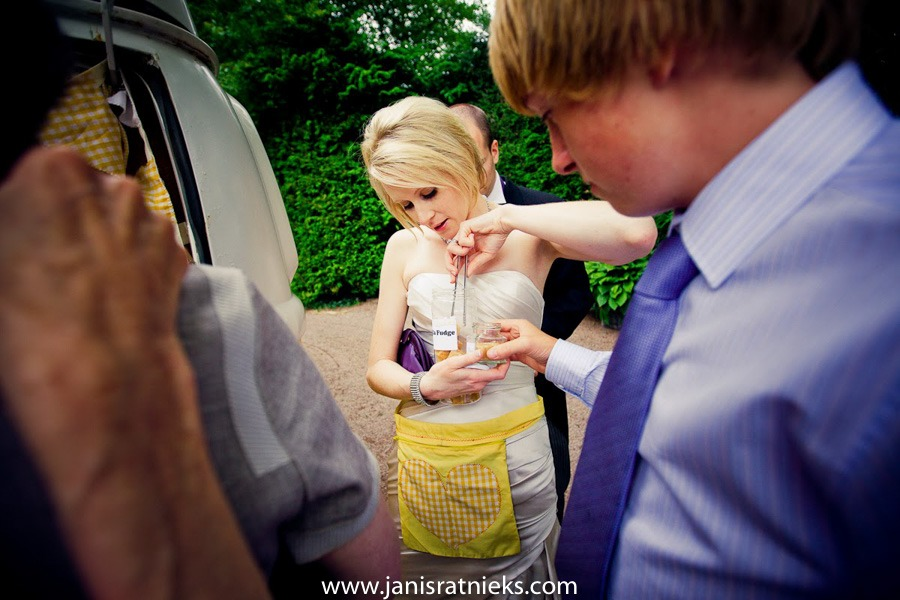 candy caravan at a wedding