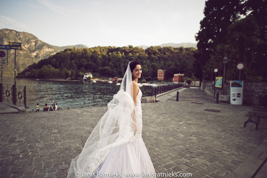beautiful Lake como wedding