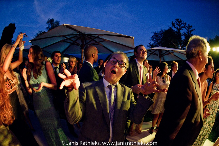 crazy wedding party fisheye