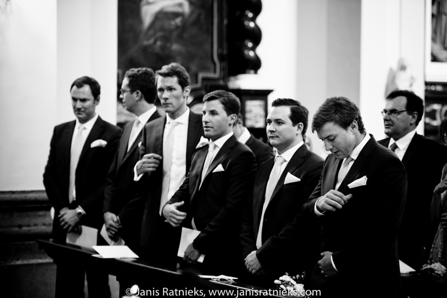 groomsmen in Italian suits