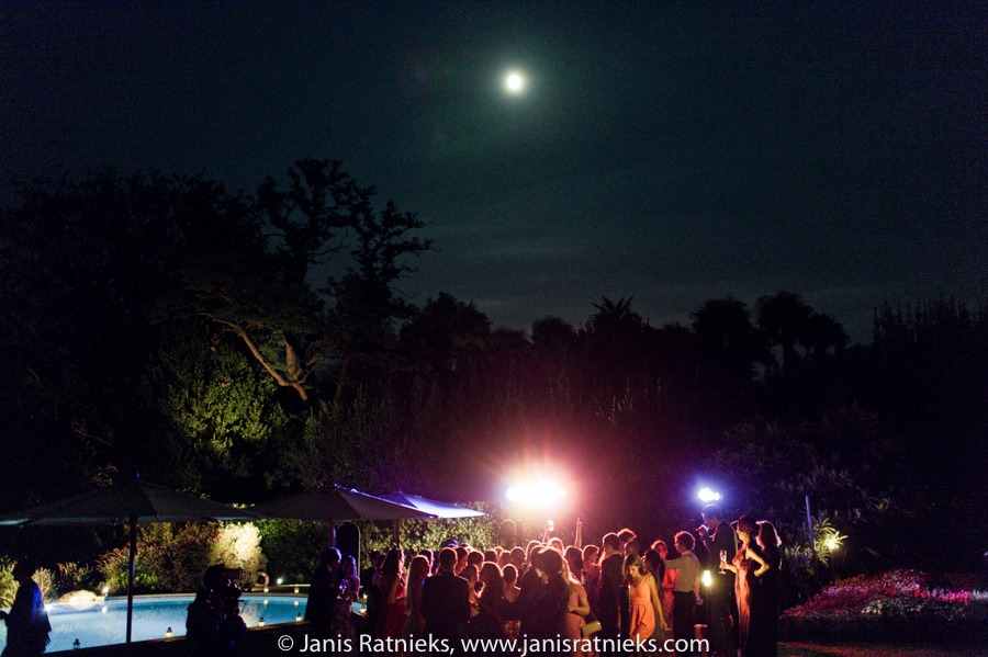 villa giuseppina night party