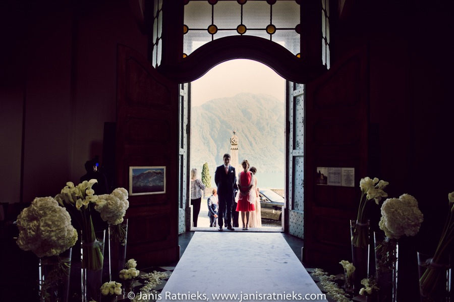 amazing wedding ceremony church Mezzegra
