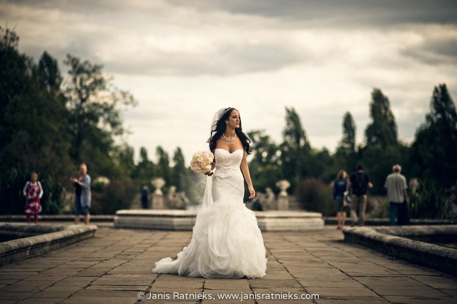 Pronovias wedding dress Italian gardens