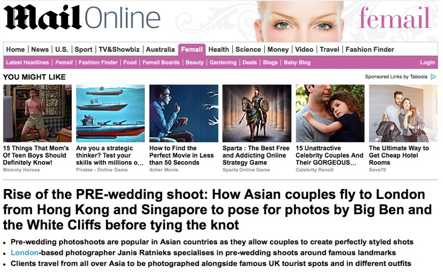 daily mail wedding photographer London