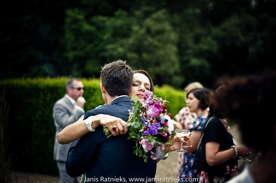 guests greetings photography after ceremony