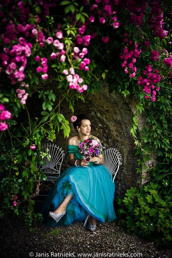 outdoor flowers photo shoot