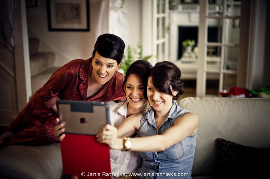 pre wedding bride selfie ipad