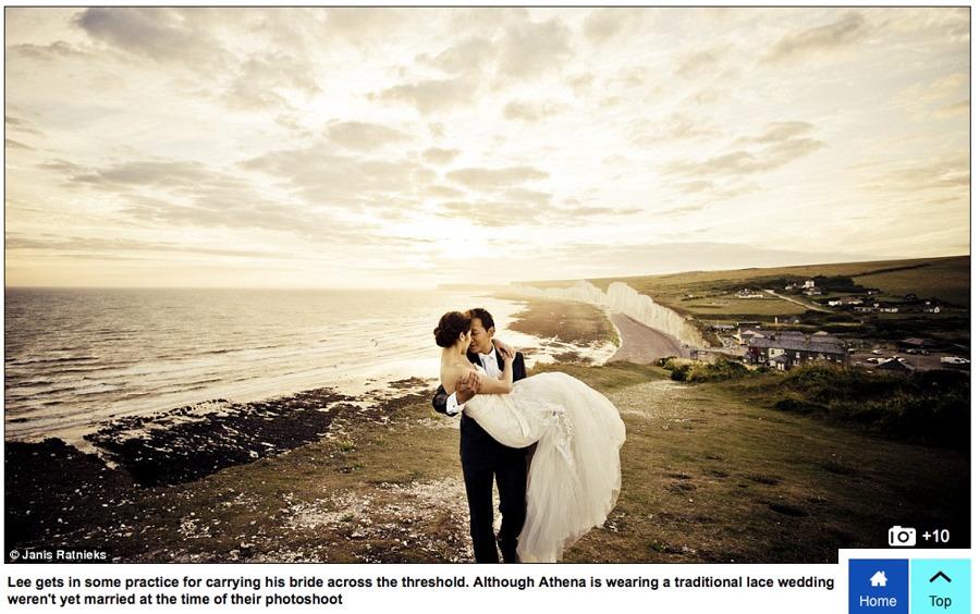 published wedding photographer England