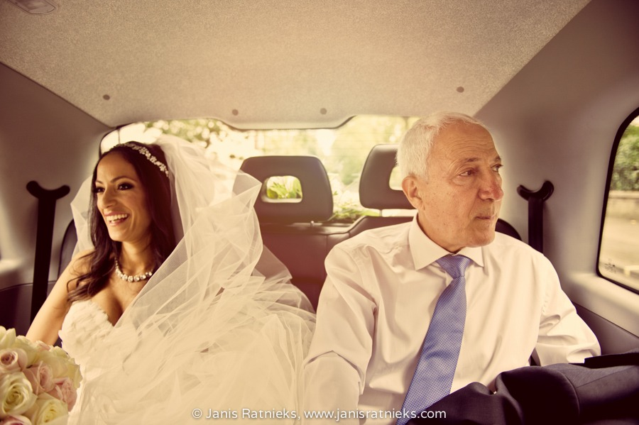 rosewood wedding car white black cab