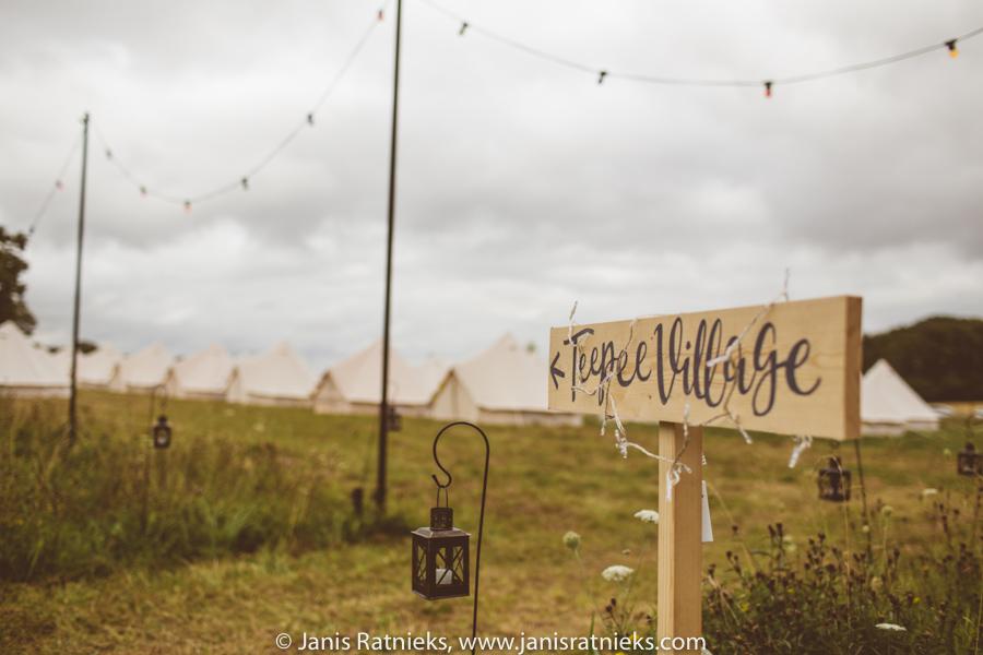 tent village wedding