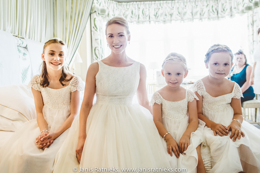 cute little bridesmaids