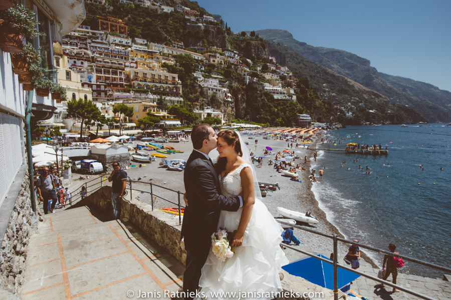 Amalfi coast wedding photographer Positano