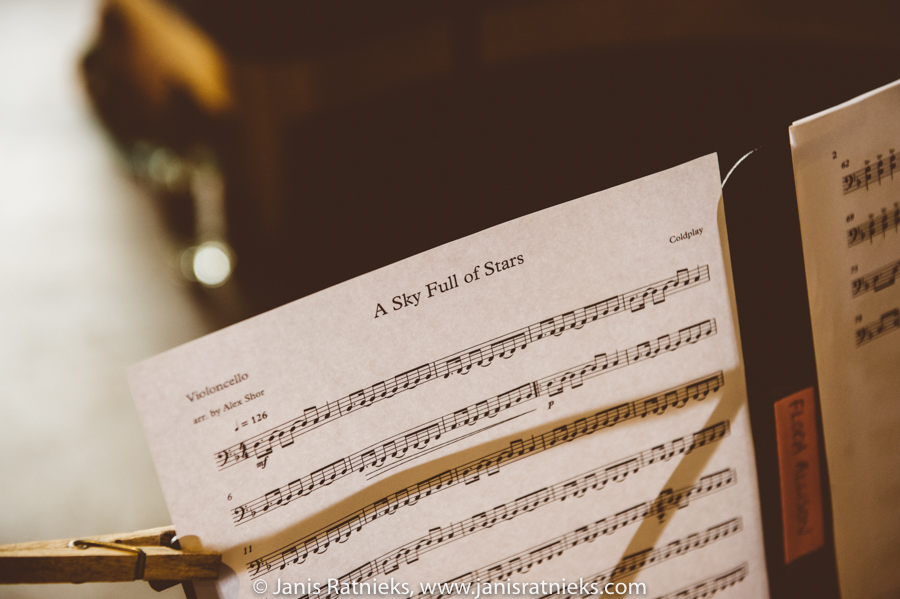 wedding music notes