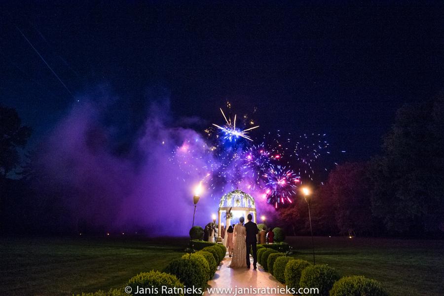 france wedding fireworks