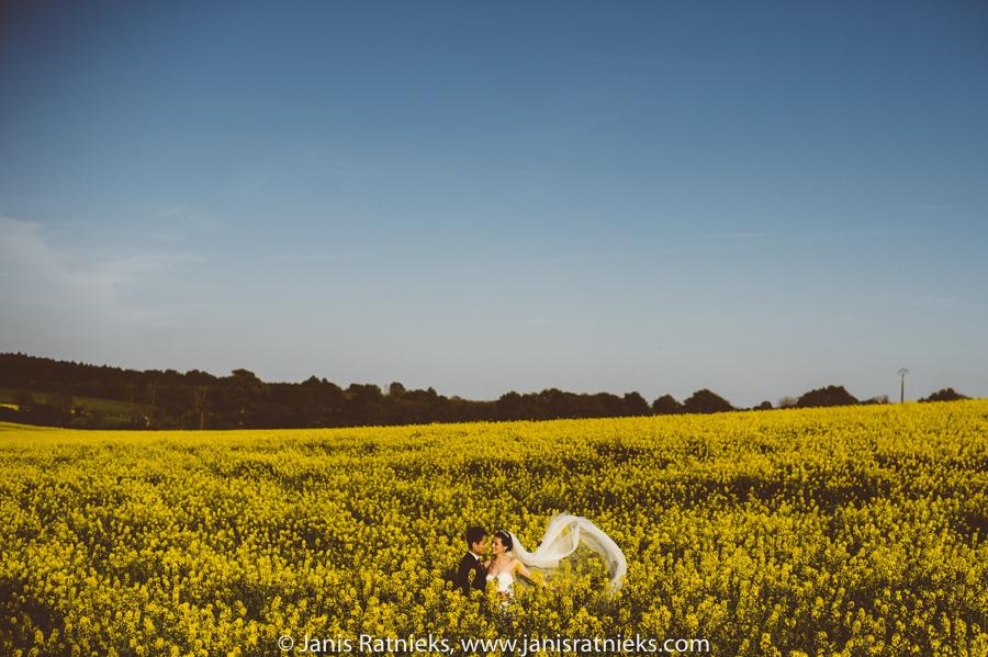 yellow fields wedding france